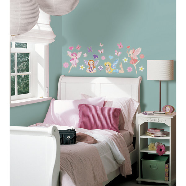 Brewster Wall Fairies Glow In The Dark Wall Decals