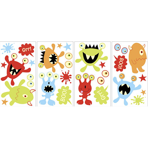 Little Monsters Glow in the Dark Wall Decals