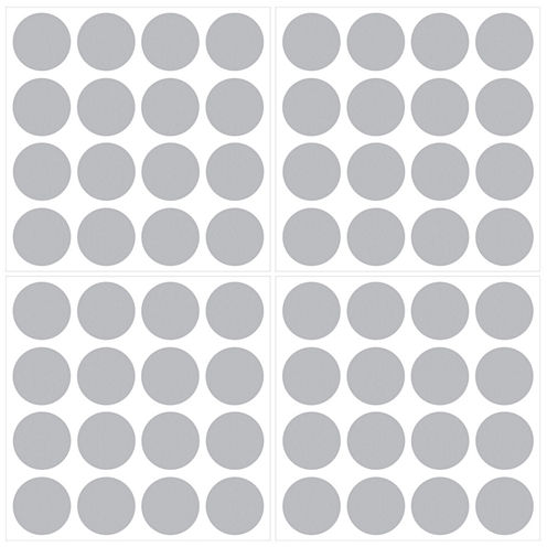 Wall Pops Metallic Silver Confetti Dots Decals