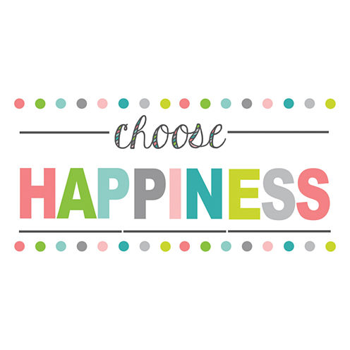 WallPops Choose Happiness Quote Wall Decal