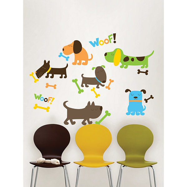 Wall Pops Puppy Love Applique Wall Decals