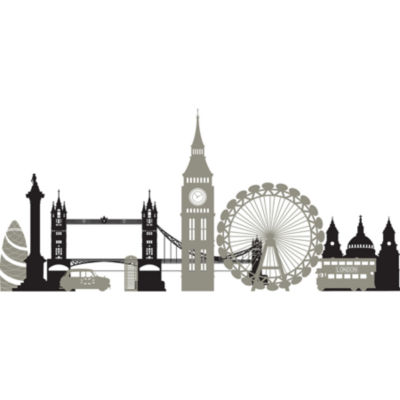 Wall Pops Peel & Stick London Calling Wall Decal