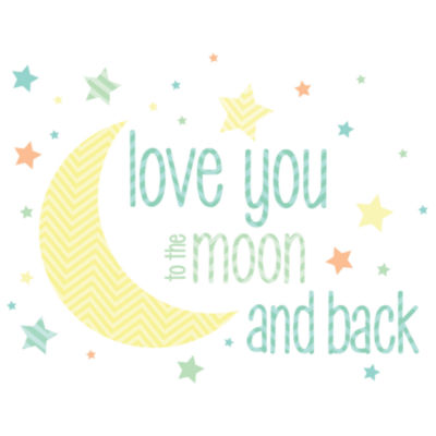 Wall Pops Love You to the Moon Wall Decals
