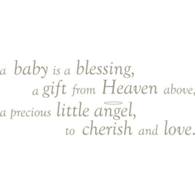 Baby is a Blessing Quote Wall Decal