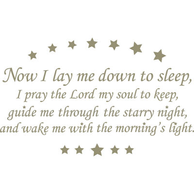 WallPops Now I Lay Me Down Quote Wall Decal