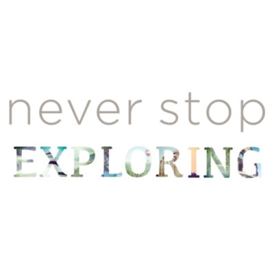 Wall Pops Never Stop Exploring Quote Wall Decal