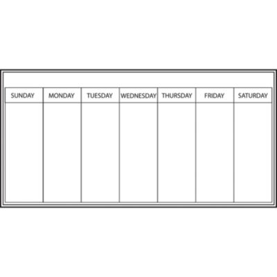 Wall Pops Dry Erase Peel & Stick Whiteboard Dry-Erase Weekly Calendar -Set of 2