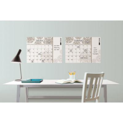 Wall Pops Kolkata Dry Erase Calendar Decal with Notes