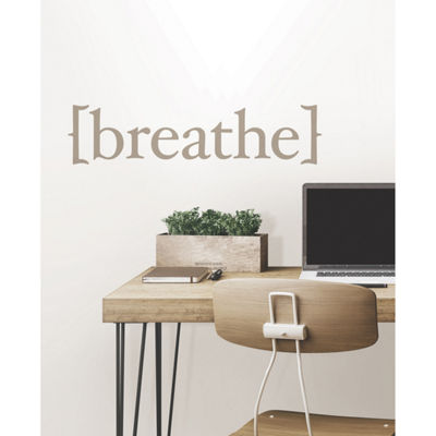 WallPops Breathe Wall Quote