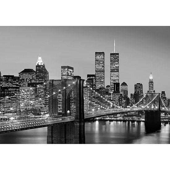 Manhattan Skyline at Night Wall Mural