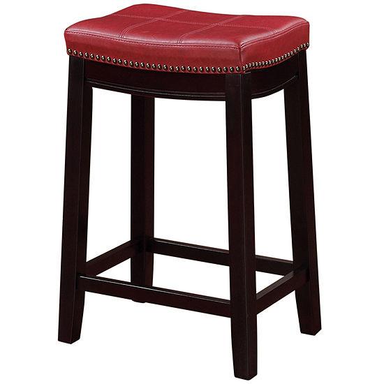 Claridge Red Counter Stool