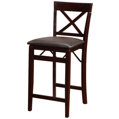 Triena X Back Folding Upholstered Bar Stool