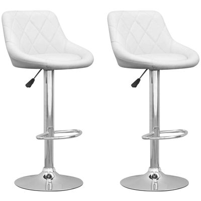 Adjustable Diamond Back 2-pc. Bar Stool