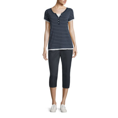 jcpenney.com | Made for Life™ Short-Sleeve Layered T-Shirt or Woven Capris