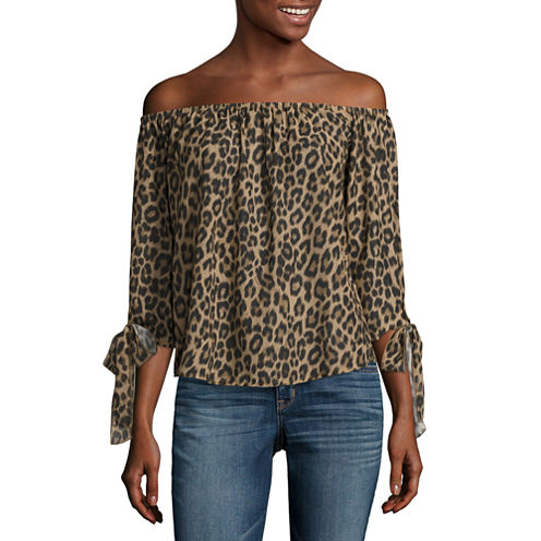 i jeans by Buffalo Tie Sleeve Off Shoulder Top