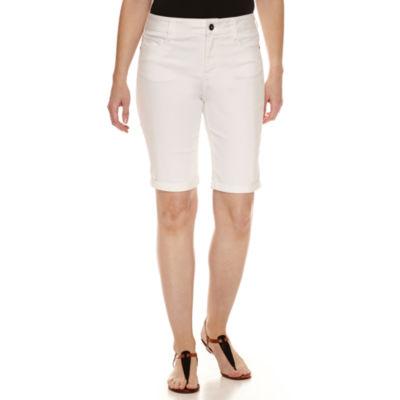"""St. John's Bay Denim 11"""" Bermuda Shorts"""