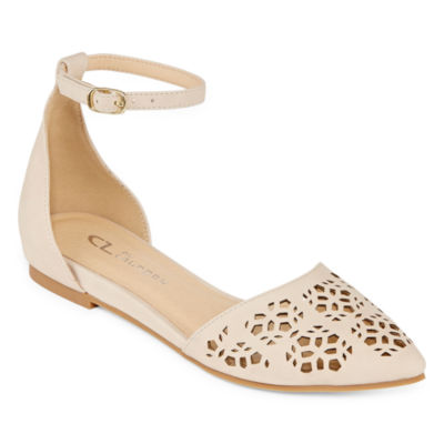 CL by Laundry Womens Horizon Ballet Flats Buckle Pointed Toe