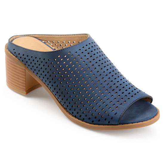 Journee Collection Womens Ziff Mules Open Toe