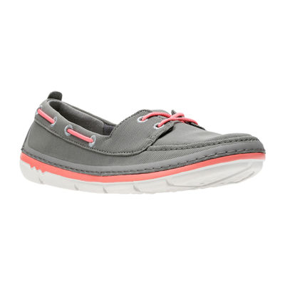 Clarks Womens Step Maro Sand Boat Shoes Slip-on