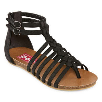 Pop Womens Gamble Ankle Strap Gladiator Sandals