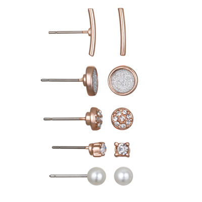 Mixit 5-pc. Clear Circle Earring Sets