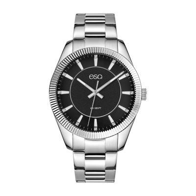 Esq Mens Silver Tone Bracelet Watch-37esq015401a
