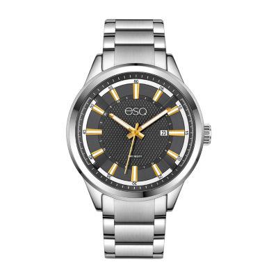 Esq Mens Silver Tone Bracelet Watch-37esq017101a