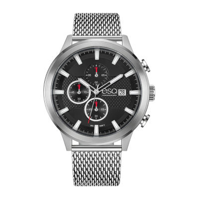 Esq Mens Silver Tone Bracelet Watch-37esq022401a