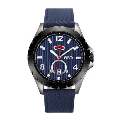 Esq Mens Blue Strap Watch-37esq007101a