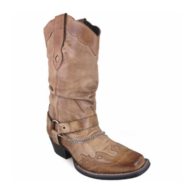 """Smoky Mountain Women's Avalon 10"""" Bomber Leather Slouch with Harness Cowboy Boot"""
