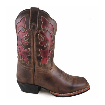 "Smoky Mountain Women's Claire 9"" Waxed Distress Leather Cowboy Boot"