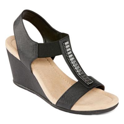 St. John's Bay Lamu Womens Wedge Sandals