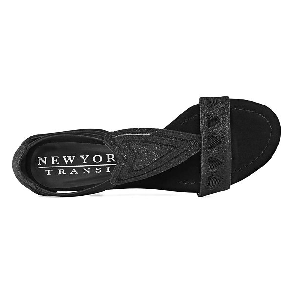 New York Transit Bring Excitement Womens Wedge Sandals