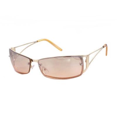 Glance Rimless Rectangular UV Protection Sunglasses-Womens