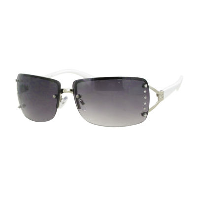 Glance Rimless Rectangular UV Protection Sunglasses-Womens