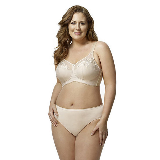 Elila Embroidered Microfiber Softcup Full Coverage Bra