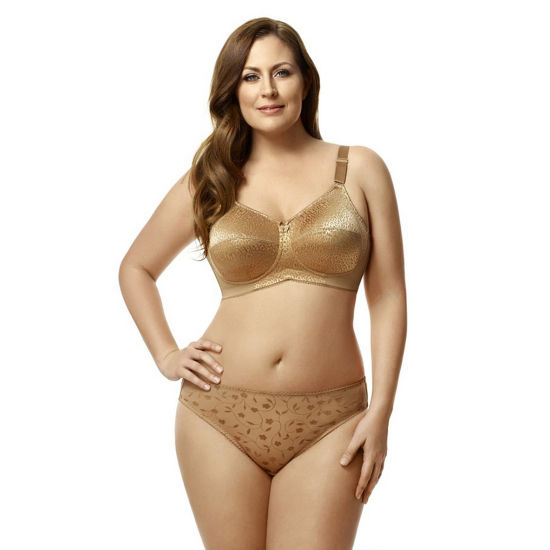 Elila Leopard Lace Softcup Full Coverage Bra