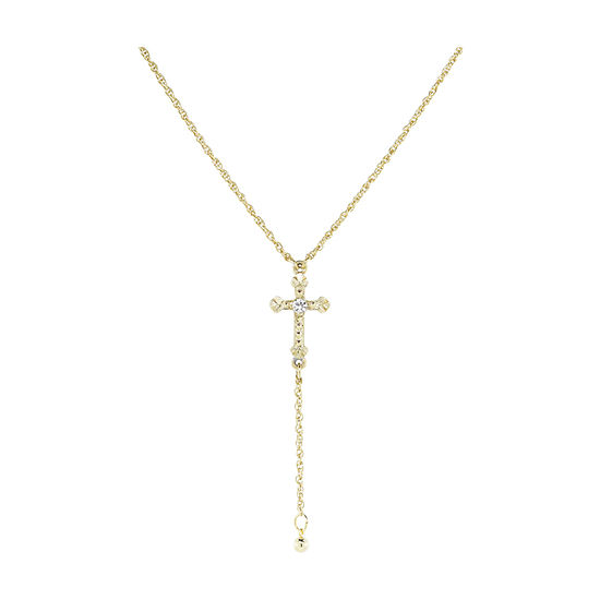 1928 Religious Jewelry Womens Cross Y Necklace