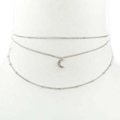 Carole Womens 3-pc. Clear Round Necklace Set