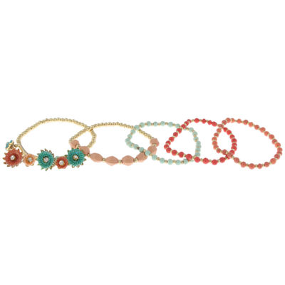 Decree Womens 5-pc. Clear Bracelet Set