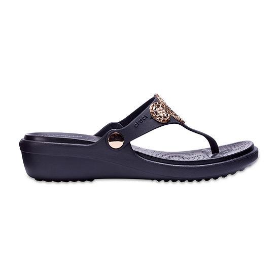 Crocs Womens Sanrah Wedge Sandals