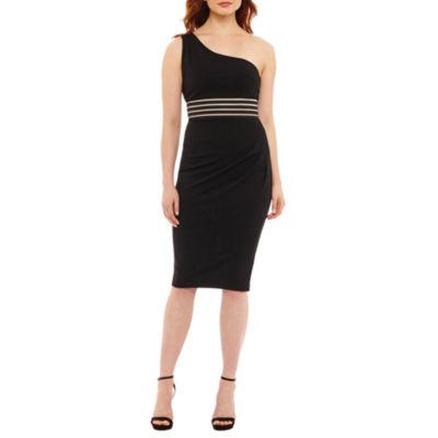 Rebecca B One Shoulder Bodycon Dress