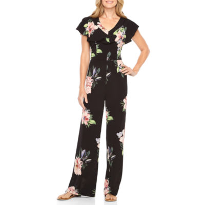 Nicole By Nicole Miller Short Sleeve Jumpsuit