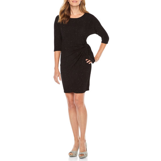 Robbie Bee 3/4 Sleeve Sheath Dress