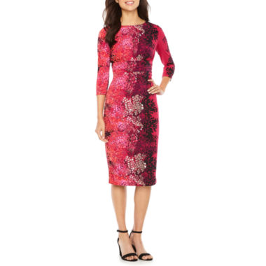Melrose Short Sleeve Ombre Sheath Dress
