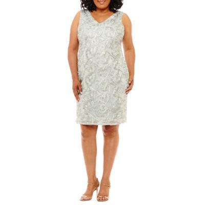 Blu Sage Sleeveless Embellished Party Dress - Plus