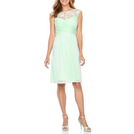 Melrose Cap Sleeve Fit & Flare Dress