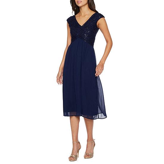 Melrose Sleeveless Embellished Midi Fit & Flare Dress