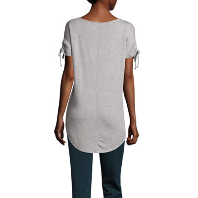Liz Claiborne Short Sleeve Round Neck T-Shirt - Tall