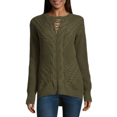 ANA Cable Keyhole Sweater- Talls